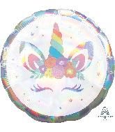 """18"""" Unicorn Party Iridescent Foil Balloon"""
