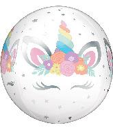 "16"" Unicorn Party Orbz Foil Balloon"