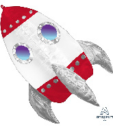 "29"" Rocket Ship UltraShape Foil Balloon"