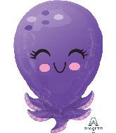 """21"""" Octopus Foil Balloon"""