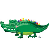 "42"" Happy Gator SuperShape Foil Balloon"