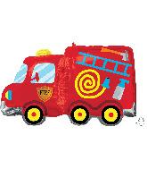 """30"""" Fire Truck SuperShape Foil Balloon"""