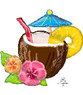 "30"" Coconut Piña Colada SuperShape Foil Balloon"