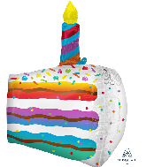 """25"""" Cake Slice UltraShape Foil Balloon"""