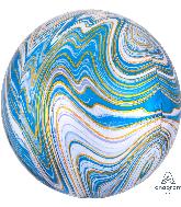 "16"" Jumbo Blue Marblez Orbz Foil Balloon"