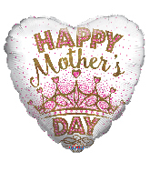 "18"" Happy Mother's Day Crown Foil Balloon"