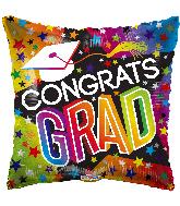 """9"""" Airfill Only Grad Stars & Rainbow Foil Balloon"""