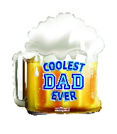"18"" Coolest Dad Beer Foil Balloon"