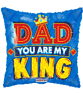 "18"" Dad King Gellibean Foil Balloon"