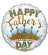 "18"" Happy Father's Day King Holographic Foil Balloon"
