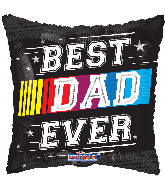 "17"" Best Dad Ever Race Foil Balloon"