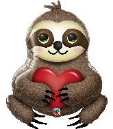 """39"""" Shape Adorable Sloth Foil Balloon"""