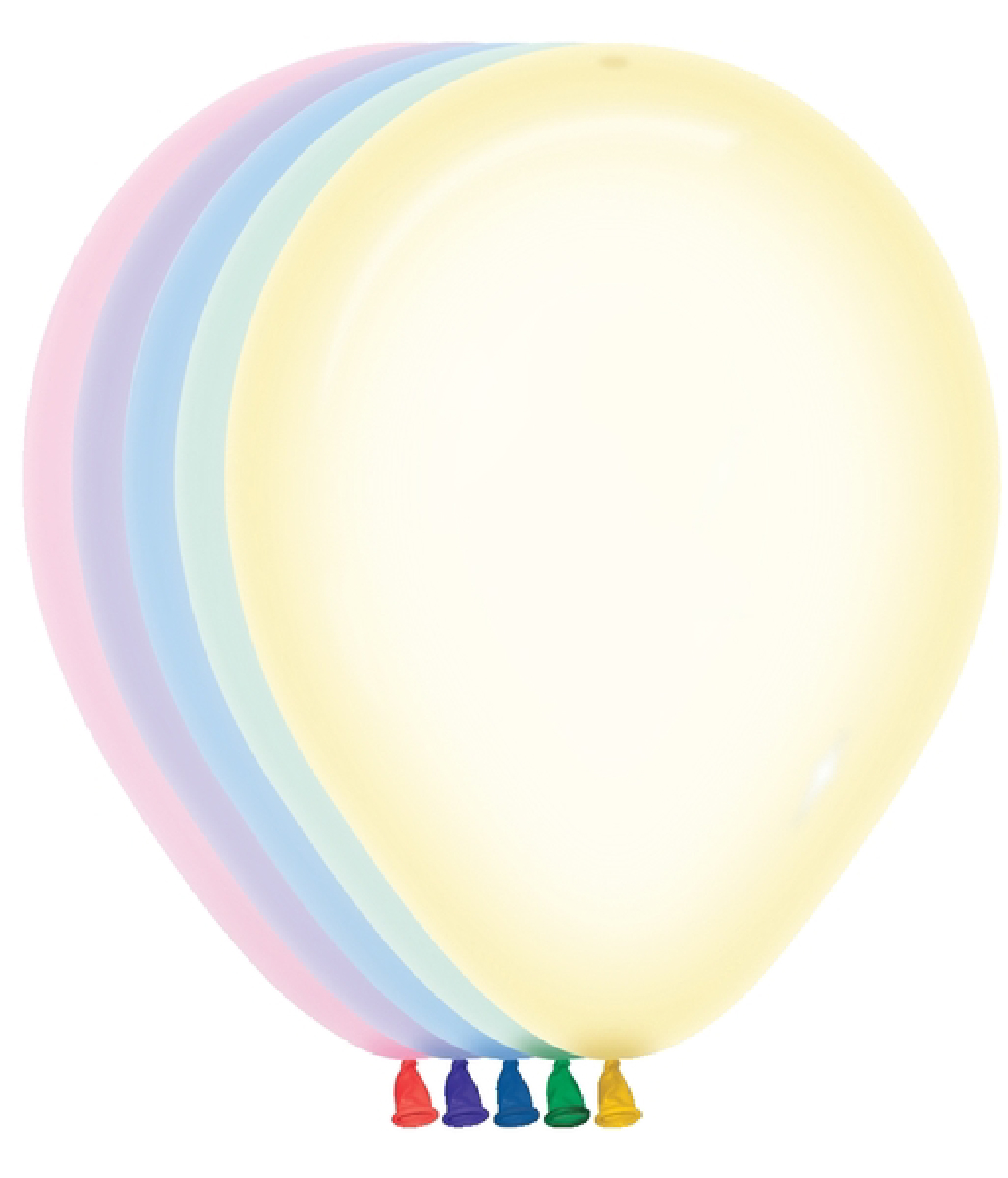 "5"" Betallatex Latex Balloons Assorted Crystal Pastel"