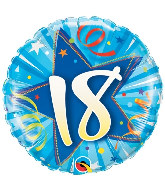 """18"""" 18 Shining Star Bright Blue Mylar Balloon"""