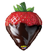 "26"" Mighty Bright Shape Mighty Chocolate Strawberry"