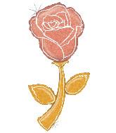 "60"" Foil Balloon Holographic Fresh Picks Rose Gold Rose"