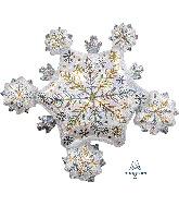 """32"""" Jumbo Shining Snow Cluster Foil Balloon"""