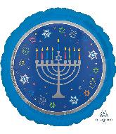 """18"""" Eight Happy Nights Hanukkah Foil Balloon"""