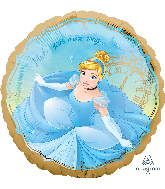 """18"""" Cinderella Once Upon A Time Foil Balloon"""