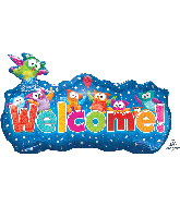 "35"" Jumbo Trend Welcome Banner Foil Balloon"