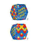 "16"" Anglez Jumbo Boss's Day Dots Foil Balloon"