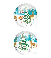 """16"""" Orbz Clear Woodland Holidays Foil Balloon"""
