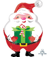 "20"" Junior Shape Jovial Santa Foil Balloon"