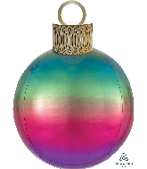 "20"" Ombré Rainbow Orbz™ Ornament Kit Foil Balloon"