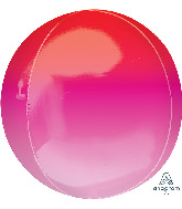 "16"" Ombré Orbz™ Red & Pink Foil Balloon"