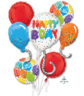 Bouquet Birthday Celebration Foil Balloon