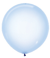 "24"" Betallatex Latex Balloons Crystal Pastel Blue"