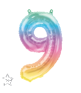 """16"""" Airfill Only Number 9 Jelli Ombre Balloon"""