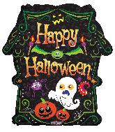 "18"" Halloween Scary Haunted House Foil Balloon"
