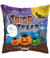 "18"" Trick Or Treat Pumpkins & Ghost Foil Balloon"