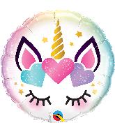 """18"""" Unicorn Eyelashes Foil Balloon"""