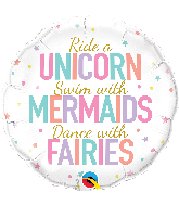 "18"" Unicorn/Mermaids/Fairies Foil Balloon"
