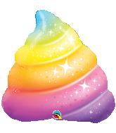 "30"" Rainbow Poop Sparkles Foil Balloon"