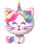"38"" Mythical Caticorn Foil Balloon"