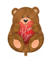 "18"" I Love You Bear Shape Foil Balloon"