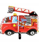 """30"""" Fire Truck Foil Balloon"""