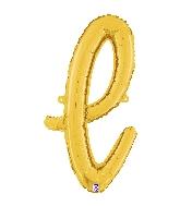"24"" Air Filled Only Script Letter ""L"" Gold Foil Balloon"