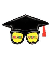 """39"""" Mighty Bright® Grad Glasses Foil Balloon"""