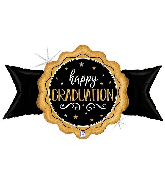 """39"""" Holographic Gold Grad Seal Foil Balloon"""
