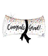 """31"""" Holographic Grad Confetti Diploma Foil Balloon"""