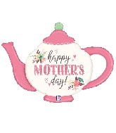 """35"""" Foil Mother's Day Vintage Teapot Foil Balloon"""