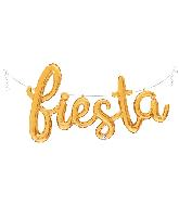 """53"""" Air Filled Only Fiesta Script - Gold Foil Balloon"""