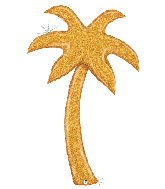 5' Foil Gold Palm Tree (Special Delivery) Foil Balloon