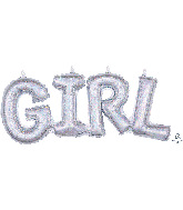 """22"""" Airfill Only Block Phrase Girl Holographic Balloon"""