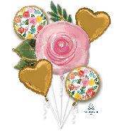 Bouquet Bright Florals Foil Balloon