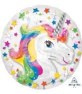 """24"""" Insiders™ Rainbow Unicorn Foil Balloon"""